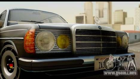 Mercedes-Benz 240 W123 Stance para GTA San Andreas vista posterior izquierda