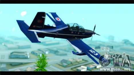Beechcraft T-6 Texan II Royal Canadian Air Force para GTA San Andreas left
