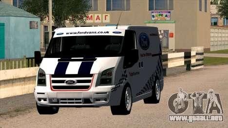 Ford Transit para GTA San Andreas vista hacia atrás