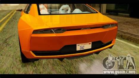 Lamborghini Estoque para GTA San Andreas vista hacia atrás