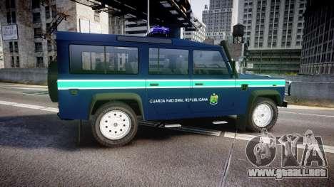 Land Rover Defender Policia GNR [ELS] para GTA 4 left