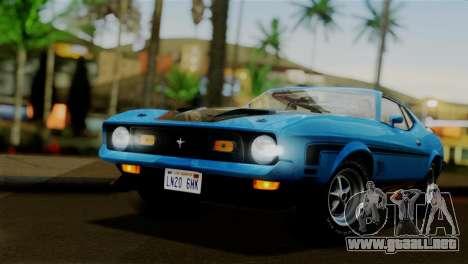 Ford Mustang Mach 1 429 Cobra Jet 1971 FIV АПП para GTA San Andreas