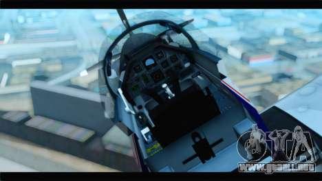 Beechcraft T-6 Texan II  United States Navy para GTA San Andreas vista hacia atrás