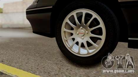 Subaru Legacy RS 1990 para GTA San Andreas vista posterior izquierda