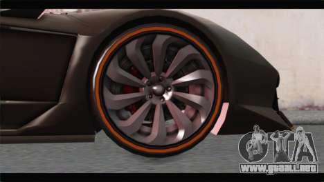 GTA 5 Pegassi Zentorno Spider para GTA San Andreas vista posterior izquierda