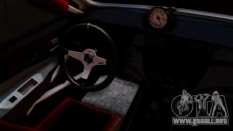 Mitsubishi Lancer Evo IX Monster Energy para GTA San Andreas vista posterior izquierda