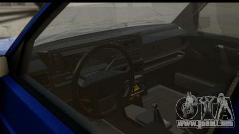 Volkswagen Golf Mk2 para visión interna GTA San Andreas
