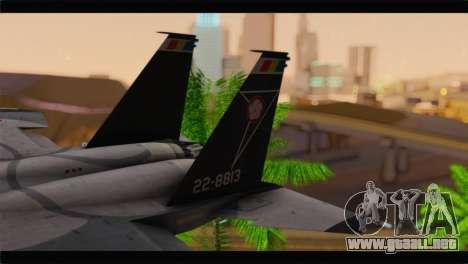 F-15J Hyakuri Air Base 30th Anniversary para GTA San Andreas vista posterior izquierda