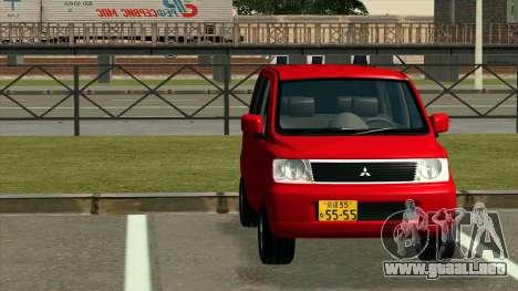 Mitsubishi eK Wagon para GTA San Andreas vista hacia atrás