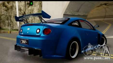 Chevrolet Cobalt SS Mio Itasha para GTA San Andreas left