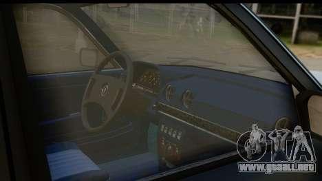 Mercedes-Benz 240 W123 Stance para visión interna GTA San Andreas