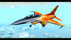 F-16D Fighting Falcon Dutch Demo Team J-015 para GTA San Andreas