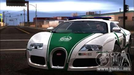 Bugatti Veyron 16.4 La Policía De Dubai 2009 para GTA San Andreas