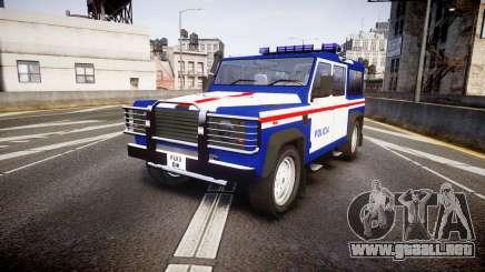 Land Rover Defender Policia PSP [ELS] para GTA 4