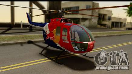 MBB Bo-105 Red Bull para GTA San Andreas