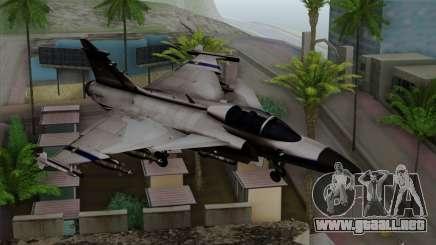 Saab 39 Gripen Custom Indigo Squadron para GTA San Andreas