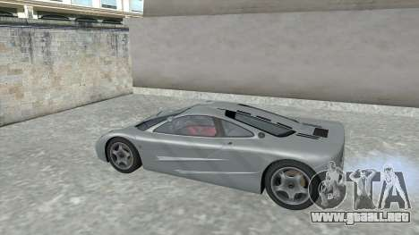 1992 McLaren F1 Clinic Model Custom Tunable v1.0 para visión interna GTA San Andreas