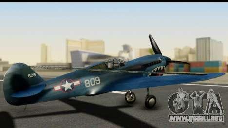 P-40E Kittyhawk US Navy para GTA San Andreas left