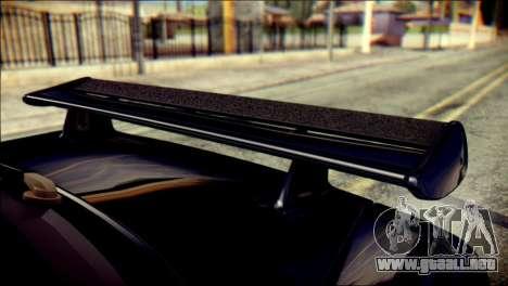 Nissan Skyline GTR V Spec II v2 para GTA San Andreas vista hacia atrás