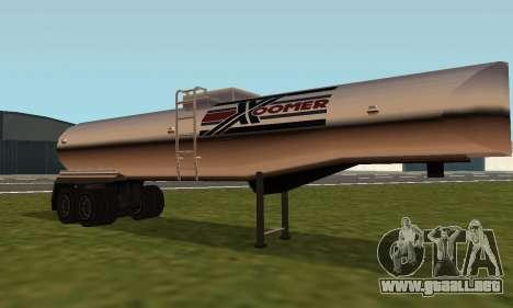 PS2 Petrol Trailer para GTA San Andreas left