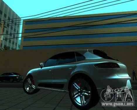Porsche Macan Turbo para GTA San Andreas vista hacia atrás
