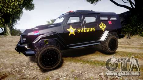 GTA V HVY Insurgent Pick-Up SWAT [ELS] para GTA 4 left