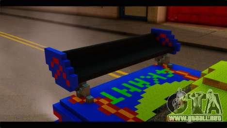 Minecraft Elegant para GTA San Andreas vista hacia atrás