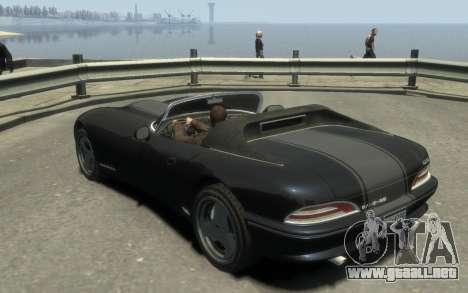 GTA 3 Bravado Banshee HD para GTA 4 Vista posterior izquierda