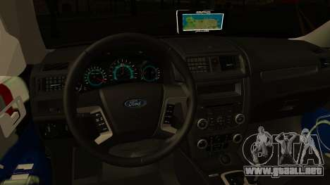 Ford Fusion 2011 Sri Lanka Police para visión interna GTA San Andreas