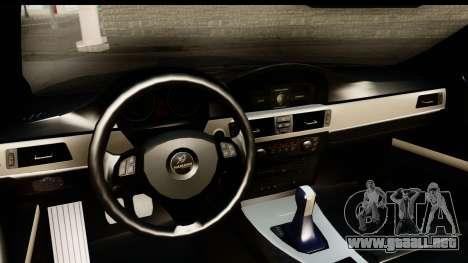 BMW M3 E90 Hamann para visión interna GTA San Andreas