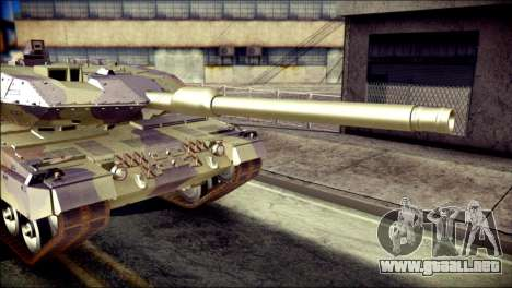 Leopard 2A6 para GTA San Andreas vista hacia atrás