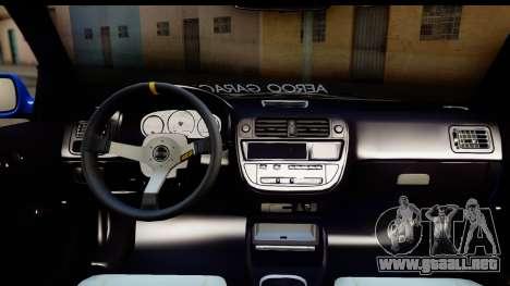 Honda Civic Hatchback para vista lateral GTA San Andreas