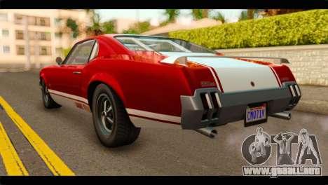 GTA 5 Declasse Sabre GT Turbo para GTA San Andreas left