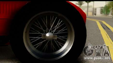 Ferrari 375 F1 para GTA San Andreas vista hacia atrás