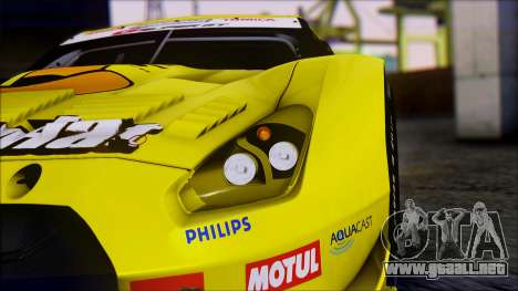 Nissan GTR R35 JGTC Yellowhat Tomica 2008 para visión interna GTA San Andreas