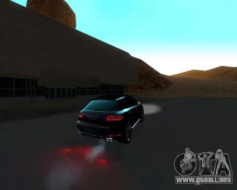 Porsche Macan Turbo para vista inferior GTA San Andreas