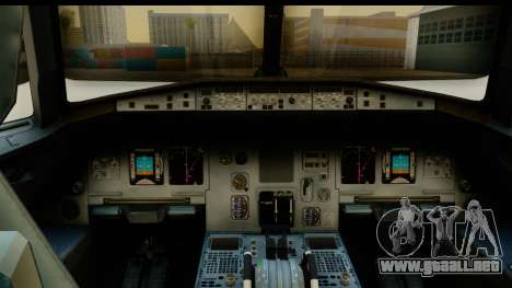 Airbus A320-200 AirAsia Queens Park Rangers para GTA San Andreas vista posterior izquierda