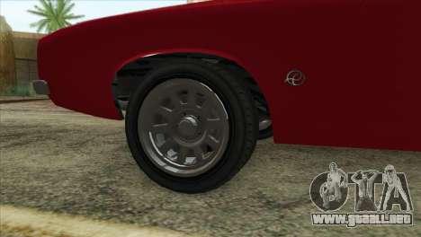 GTA 5 Declasse Stallion para GTA San Andreas vista posterior izquierda