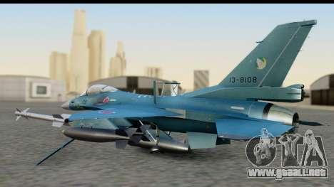 F-2A Viper Blue para GTA San Andreas vista posterior izquierda