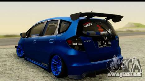 Honda Fit 2009 JDM Modification para GTA San Andreas left