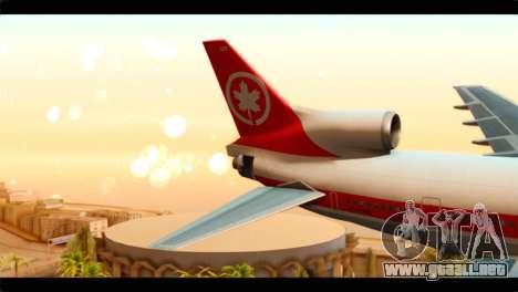 Lookheed L-1011 Air Canada para GTA San Andreas vista posterior izquierda