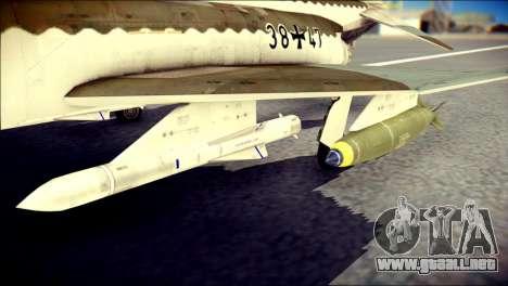 McDonnell Douglas F-4F Luftwaffe para la visión correcta GTA San Andreas