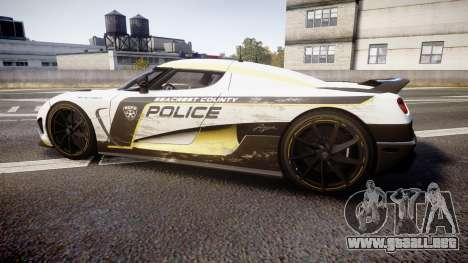 Koenigsegg Agera 2013 Police [EPM] v1.1 PJ2 para GTA 4 left