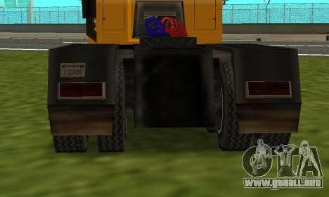 PS2 RoadTrain para GTA San Andreas vista posterior izquierda