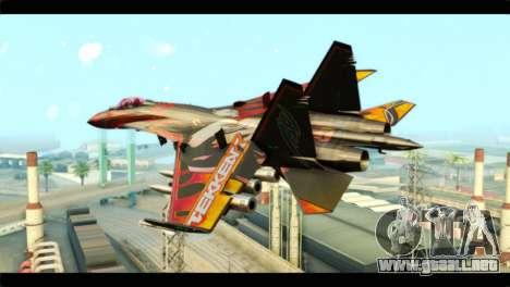 SU-35 Flanker-E Tekken para GTA San Andreas left