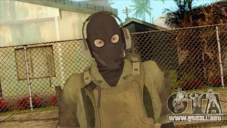 Metal Gear Solid 5: Ground Zeroes MSF v1 para GTA San Andreas tercera pantalla