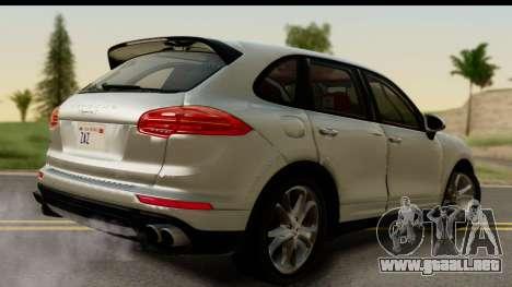 Porsche Cayenne S 2015 para GTA San Andreas left