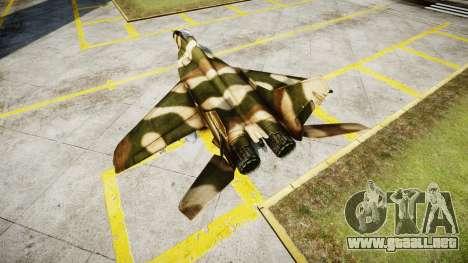 El MiG-29 para GTA 4 Vista posterior izquierda