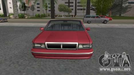 Premier Cabrio para la visión correcta GTA San Andreas