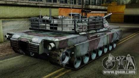 M1A2 Abrams Woodland Blue Camo para GTA San Andreas left